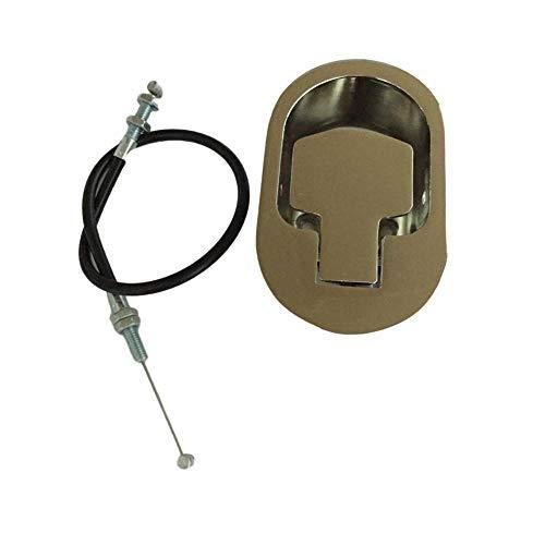 Universal-Liegestuhlgriff mit Kabel, oval, Vollmetall, 96,5 cm, freiliegend verstellbar 11,4 cm bis 11,9 cm, passend für Ashley und andere Hersteller von Stühlen, für Sofa oder Liege