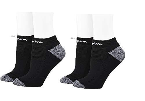 Champion - Calcetines tobilleros de corte bajo para mujer (2 unidades) -  Negro -  Talla única