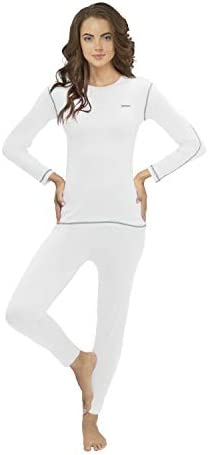 Thermal Underwear for Women Thermal Long Johns Sleeve Shirt Pants Set Base Layer w Leggings product image