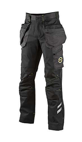 Dimex 6086 Superstretch HT-Hose Arbeitshose atmungsaktiv, Professional Workwear Herren, lang, Schwarz/Grau 52