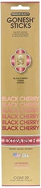 Gonesh Incense Sticks Extra Rich Black Cherry Set Of 4 20 Sticks Each Total 80 Sticks