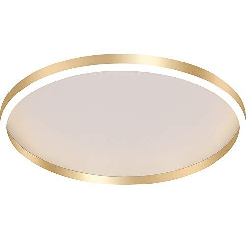 Moderno Minimalista Techo Luz LED Anillo de Oro Superficie Soporte de montaje en Flush Lámparas de techo 24W Redonda Sombra de Acrílico 40 cm Diámetro Luminaria Interior Lámpara para Comedor Lámpara F