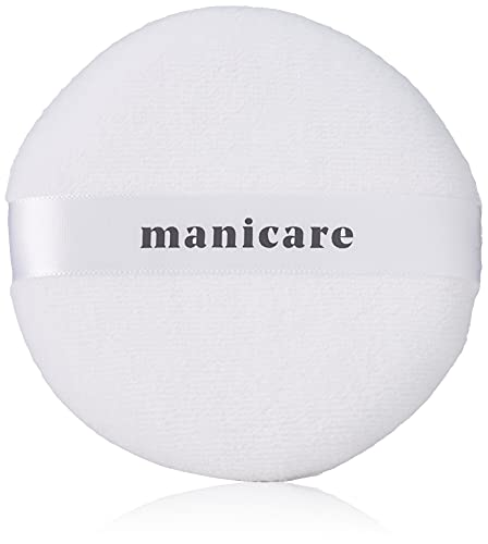 Manicare Luxury Cosmetic Powder Puff, Soft Cotton Puff, Light Coverage, Gentle on the Skin, Perfect to Use with Loose Powder