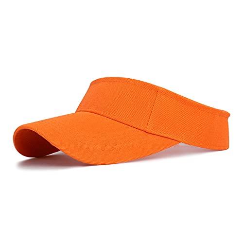 happy time Deportes Sol Gorra Hombres Mujeres Ajustable Capas de algodón de algodón protección Superior vacío Tenis Golf Corriendo Sombrero de Protector Solar (Color : Orange, Size : Adjustable)