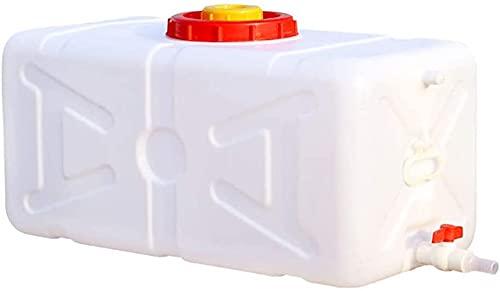WXking Tanque de Almacenamiento de Agua de plástico de Gran Capacidad, Cubo Rectangular al Aire Libre portátil, contenedor de Almacenamiento de Agua Resistente a la corrosión con válvula y Tapa