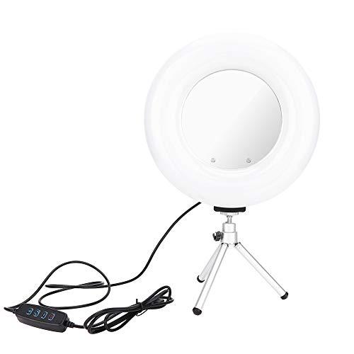 8.6inch Dimbaar LED-ringlicht Usb-ringlicht Dimbaar LED-invullicht met standaard voor camera, smartphone, YouTube, zelfportretopname