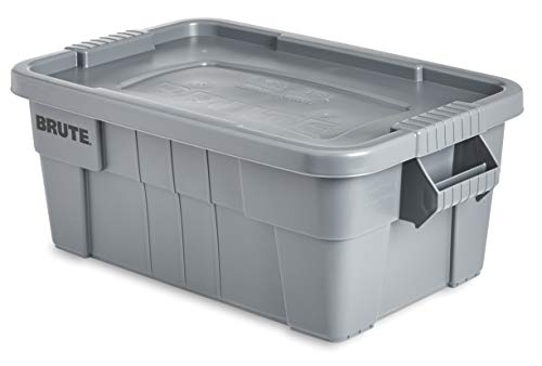 Rubbermaid Commercial Brute Tote Storage Bin with Lid 5