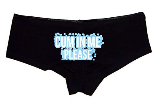 Sexy Girl Rock Cum in Me Please Booty Shorts Panties Black