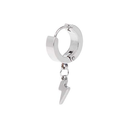 Leiouser - 1 pieza de pendientes punk, colgante de personalidad masculina y mujer, joyería de acero de titanio, hebilla de oreja antialérgica, dijes Brincos regalos