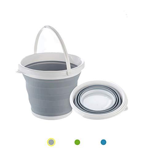 ANPI Cubo Plegable, Contenedor Portátil de Acuqa en Silicona y Plástico para la Limpieza del Hogar, Coche de Viaje de Pesca para Acampar