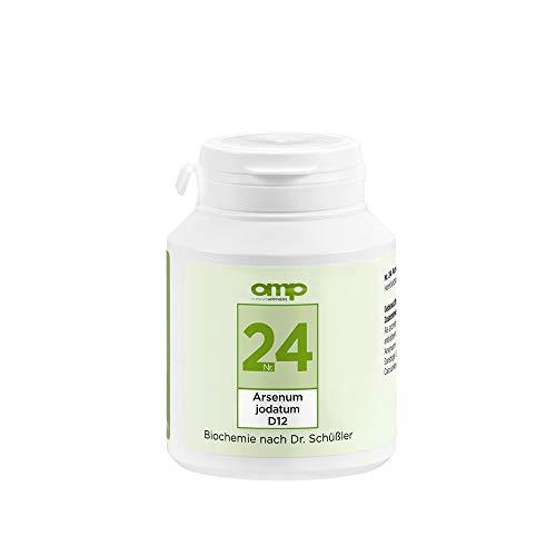 Schüssler Salz Nr. 24 Arsenum jodatum D12 | 400 Tabletten | Das Salz für Lymphdrüsen, Haut und Lunge | glutenfrei