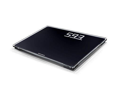 Soehnle Digitale Personenwaage Style Sense Comfort 500, mit Tragkraft bis 180 kg, Waage mit extragroßem LCD-Display, Personenwaage für sicheren Stand