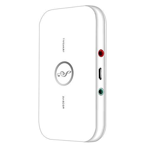Esenlong Bluetooth 5. 0 Transmisor y Receptor 2 en 1 BT Transmisor Receptor Adaptador de Audio Inalámbrico para PC TV Auriculares