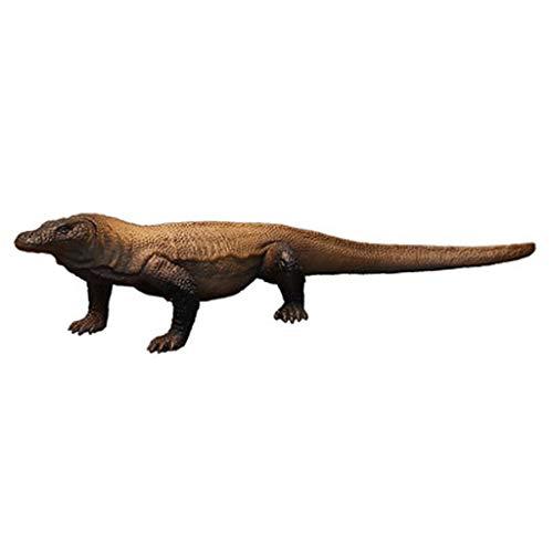 LSXUE Kinder-solides Simulations-Tiermodell-Spielzeug, Brown-Reptil-Komodo-Drache-Plastikspielzeug
