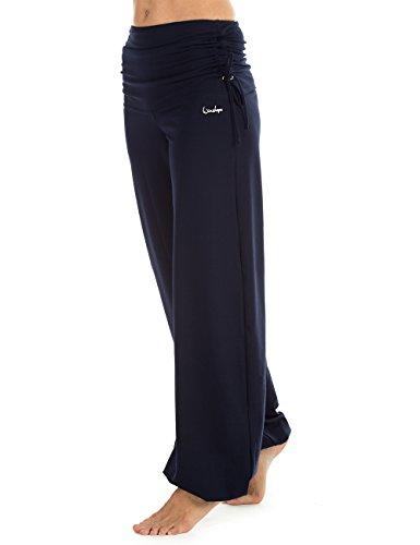 Winshape Damen Trainingshose WH1 Fitness Freizeit Sport Yoga Pilates, Night Blue, L