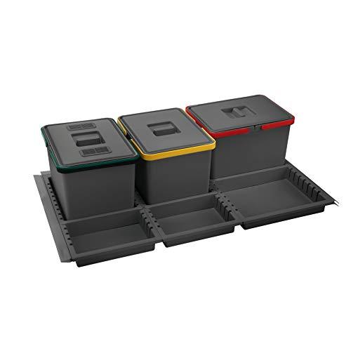 Best Prices! ELLETIPI Metropolis ptc22090501F C10PPV Waste from Drawer, Grey, 81x 46x 22...