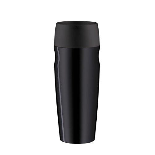 alfi 5617.233.035 Coffee To Go Trinkbecher isoMug, Edelstahl Schwarz 0,35 l, 4 Stunden heiß, 8 Stunden kalt, BPA-Free, 360° Trinken