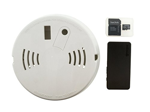 Brickhouse Security Camscura Micro 720p Hidden Camera with Smoke Detector Enclosure and SD Card Kit for Home, Office, Nanny Cam, Elderly Relative, Care Giver, Pets, Asset Loss Prevention