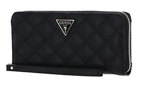 GUESS Cessily Large Zip Around Wallet, Black