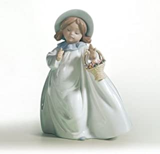 Lladro Dreams 06684 Girl with Flower Basket