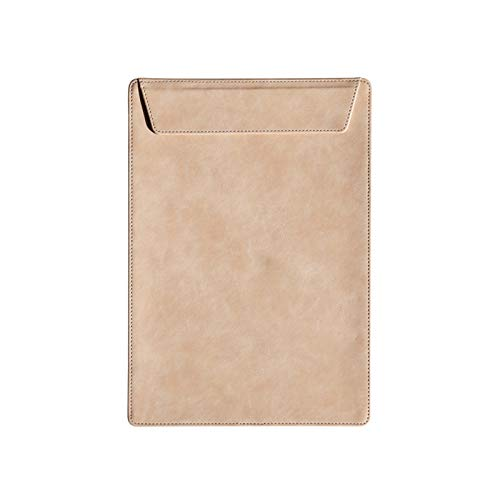 Carpetas para archivo Carpeta de la carpeta de la carpeta de la Clase A4 Portapapeles de cuero engrosada de la carpeta de contrato de una sola página con hebilla de succión magnética Carpetas Anillas