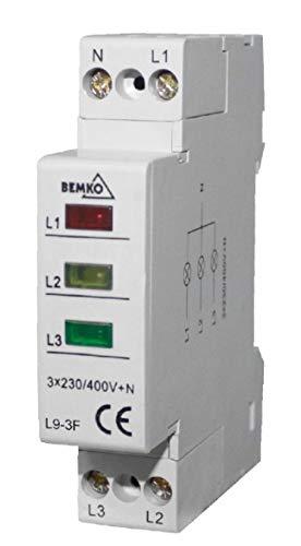 BEMKO L9 L9-3F Kontrollleuchten 3, 1.8 W, Leuchtmelder 1 Phase Gelb