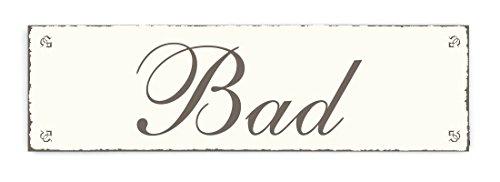 SCHILD Dekoschild BAD Shabby Vintage Holzschild Türschild Badezimmer