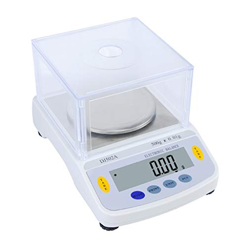 CHICTI Báscula Laboratorio Precisión 0.01g Balanza Analítica Electrónica con Cubierta Protectora contra El Polvo Pantalla LCD Escala Científica para Farmacia Laboratorio Pequeño (Size : 300g/0.01g)