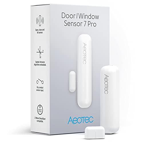 Zwave Door Sensor Window Sensor, Z-Wave Plus Enabled Aeotec 3-1 Door Window Sensor 7 Pro, Zwave Hub Required, Gen 7, White (Door/Window Sensor 7 Pro)