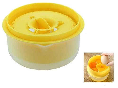 Luckynono Separador de Yemas Claras de Huevos Gadget de Cocina Herramienta para Hornear(Amarillo)