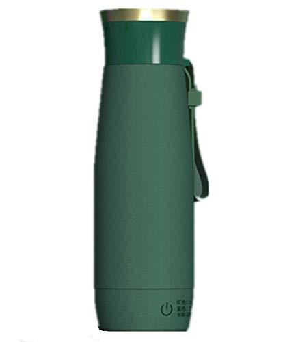 Nye Tasse chauffante électrique Portable, Tasse à café de Voyage, Acier Inoxydable, 300 ML, Multifonction, Chauffage/Conservation de la Chaleur, Eau de Chauffage/Lait/thé, Vert