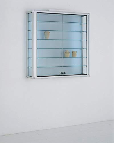 MHN - Vetrina da collezione in vetro con serratura, 100 cm, 2 x 40 W