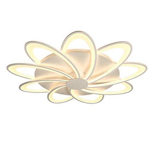 WUIO Luz De Techo, Lámpara De Techo Creativa Moderna Acrílica LED con Forma De Flor, Luz De Montaje Empotrada Acrílica para Baño, Sala De Estar, Desván,6 Heads