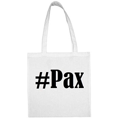 Tasche #Pax Größe 38x42 Farbe Weiss Druck Schwarz