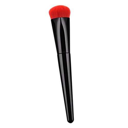 MERIGLARE Maquillage Pinceau En Forme De Coeur Cosmétique Fondation Brosse Poignée En Bois Rouge