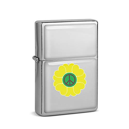 SPIRITSHIRTSHOP Signo de la paz, Amor 60 y 70, disfraz hippie, encendedor de gasolina cromado, regalo para regalo, larga vida til