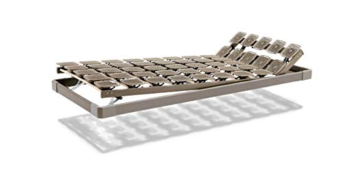 Tempur Flex 1000 Bettrahmen, 4 Zonen Tellerfeder Lattenrost, Fuß- und Kopfteil verstellbar, Kunststoff, 90 x 200 cm