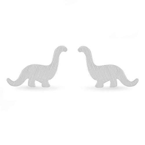 Boma Jewelry Sterling Silver Brontosaurus Dinosaur Stud Earrings