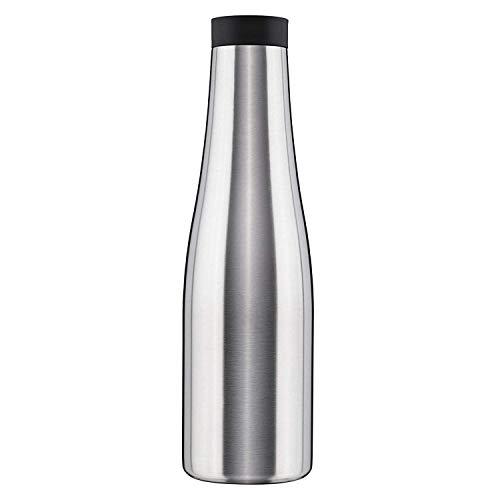 BOHORIA® Premium Design Thermosflasche Agua 900ml   Thermoskanne   Kanne für Kaffee, Tee & Wasser   Edelstahl   OneClick Verschluss (Stainless Steel)