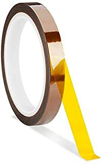 RETERMIT Heat Resistant Tape Sublimation Tape High Temperature Tape Polyimide Film Adhesive Heat Tape Heat Transfer Vinyl Tape Heat Transfer Tape (1/2