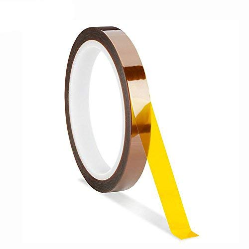 2 Rolls 2 Rolls 108ft High Temperature Heat Resistant Kapton Tape Polyimide Film Adhesive Tape for Sublimation for Heat Press No Residue 10mm+15mm 10mm+15mm