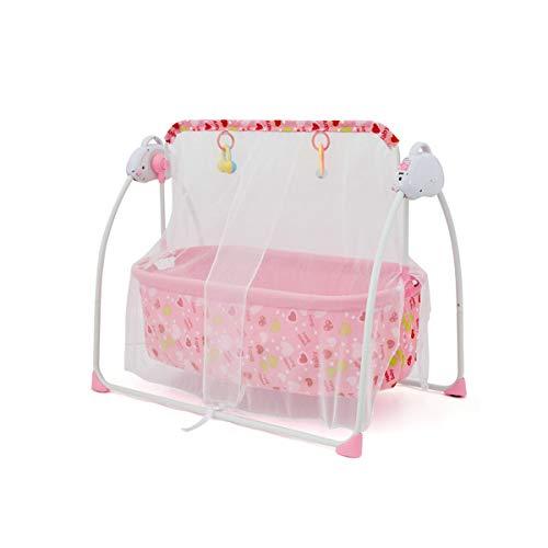 MOZX Hamaca Bebé, Gandulita Reclinable para Bebé con Funcion Mecedora, Asiento Bebe para Recién Nacidos De 0 A 24 Meses, 3 Tipos De Tiempo, 5 Velocidades Ajustables,1