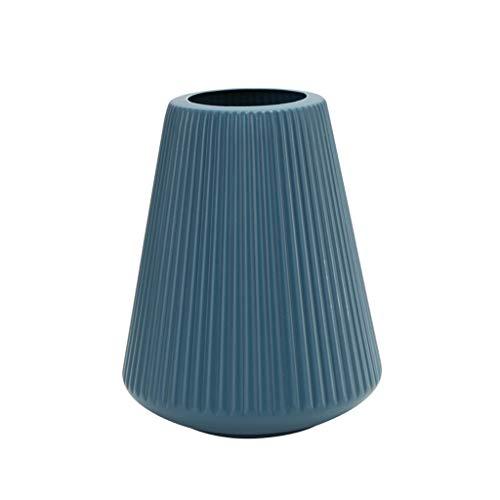ZOOMY Kunststoff Origami Vase Imitation Keramik Blumentopf Korb Flasche Nordic Arrangement Container Home Decor - Blau