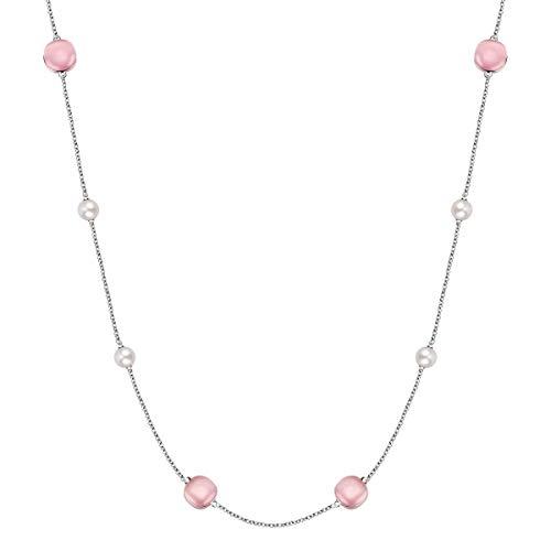 Morellato Collana da donna, Collezione Gemma Perla, in Argento 925, Perle Coltivate - SATC01