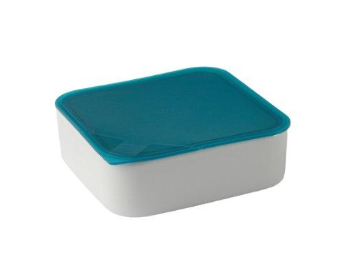 Arzberg Form 3330 Küchenfreunde Frischebox mit Kunsstoffdeckel 18 x 18cm, türkis