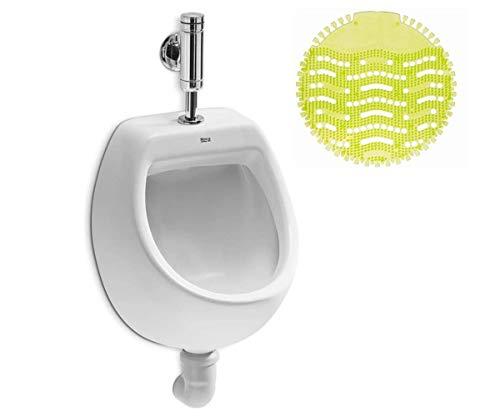 VBChome Urinal Zulauf Oben Weiß Modern Hochwertig Keramik Pinkelbecken senkrecht Pissoir Urinalsieb