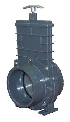 Valterra 8401 PVC Metric Gate Valve, Gray, 110 mm Slip by Valterra Products