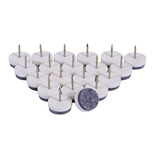 Almofada de feltro para piso, protetor de prego de feltro de 24 mm, produtos de escritório para móveis para reforma doméstica(white)