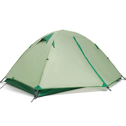 WGYDREAM 2 Person Tent Outdoor Camping Tent Professional Lightweight Silicone Aluminum Pole Tent Waterproof for Hiking Mountaineering (Color : Green)