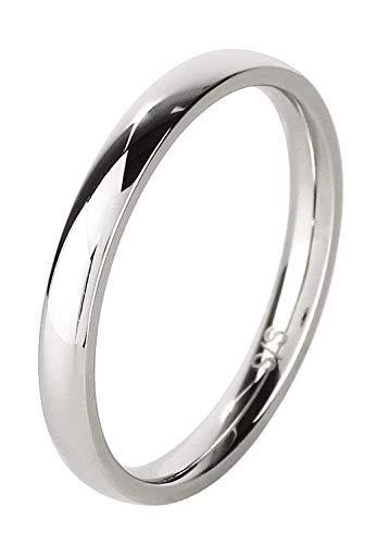 新宿銀の蔵 プレーン サージカルステンレス リング 7〜21号 (21号) 指輪 金属アレルギー 対応 シンプル 平打ち 甲丸 細身 重ね付け